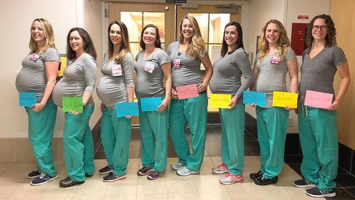 Mấy chị y tá mang thai đi viral đều đã sinh xong + ảnh các bé là 😍
