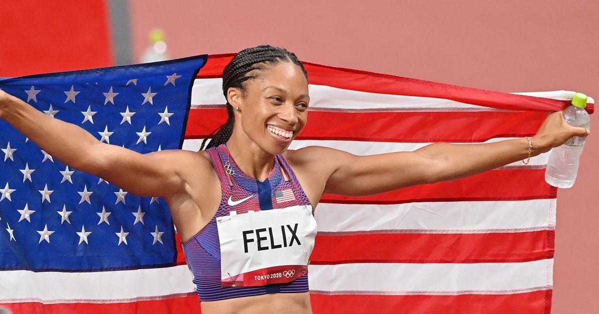 Allyson Felix trở thành vận động viên điền kinh nữ được trang trí nhiều nhất