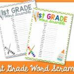 first grade word scramble 1 1