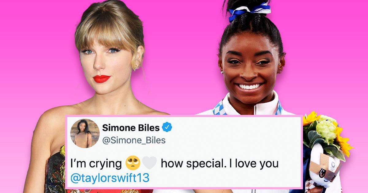 Taylor Swift và Simone Biles khen ngợi nhau trong những thông điệp đáng yêu