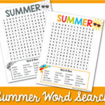 summer word search 2
