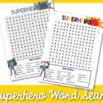 superhero word search 1