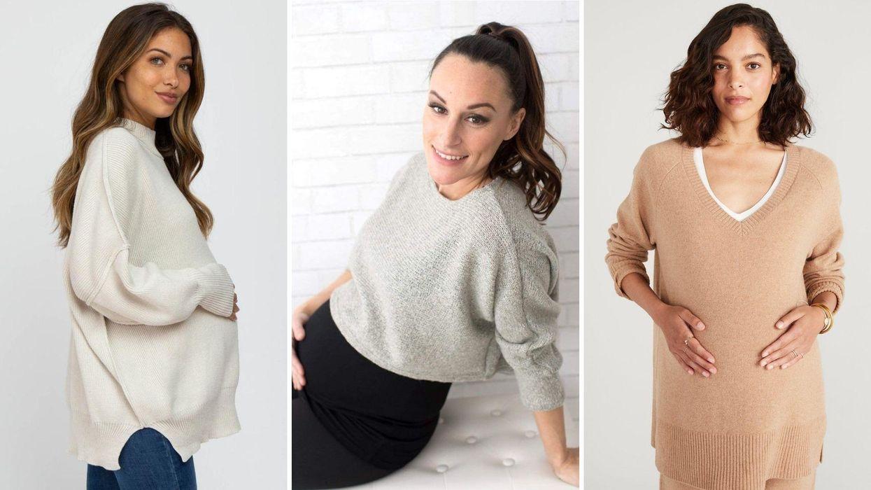 12 áo len dành cho bà bầu mùa thu cho mọi giai đoạn của thai kỳ (và hơn thế nữa!)