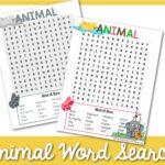 animal grade word search 1