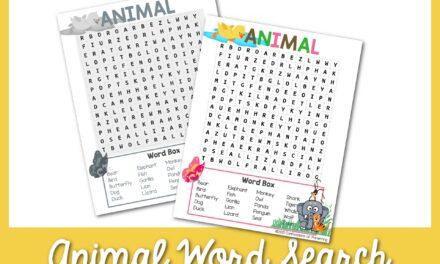 Tìm kiếm từ động vật miễn phí có thể in