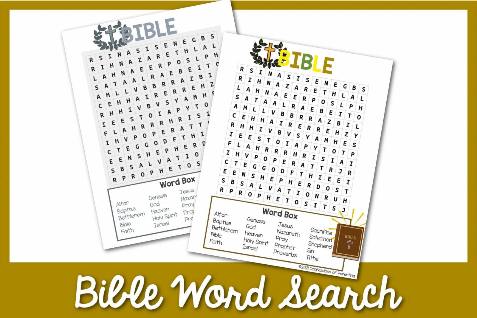 Tìm kiếm từ ngữ Kinh thánh miễn phí có thể in