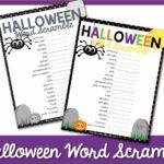 halloween word scramble 1