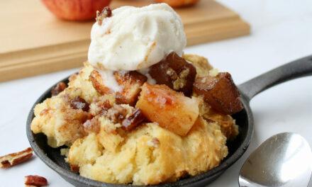 Maple Pecan Apple Cobbler Recipe