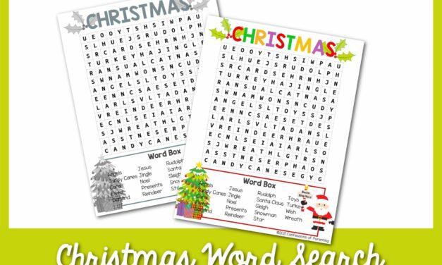 Tìm kiếm từ miễn phí Giáng sinh có thể in