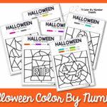 Màu Halloween theo số tờ