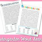 kindergarten word search 2